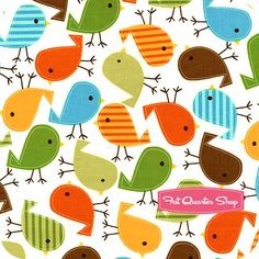 Urban Zoologie Bermuda Little Birds Yardage SKU# 11507-237 - Fat Quarter Shop
