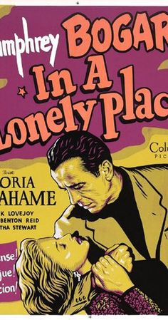 Directed by Nicholas Ray.  With Humphrey Bogart, Gloria Grahame, Frank Lovejoy, Carl Benton Reid. A potentially violent screenwriter is a murder suspect until his lovely neighbor clears him. But she begins to have doubts...