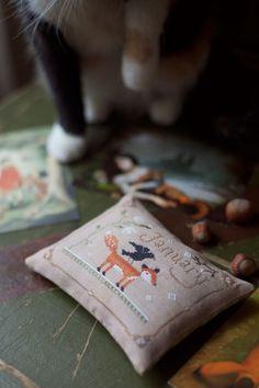 The Snowflower Diaries - January - Joyful World - Loreta Lavender Sachets, Winter Time, Cat Love, Cross Stitching, Cozy, Seasons, Embroidery, Photo And Video, January