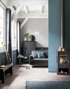 Scandinavian | Blue Living Room Ideas: 21 Ways To Use This Versatile Color