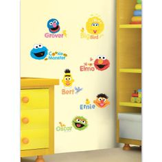 Sesame Street Theme Room Wall Stickers Decals Kids Furniture