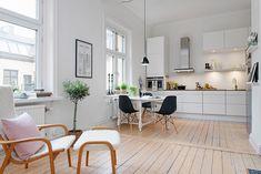 Een mooi Scandinavisch woonkamer