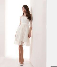 Короткое кружевное свадебное платье (#52 КР16), цена 27000 руб - фото | «Белый Авантаж»