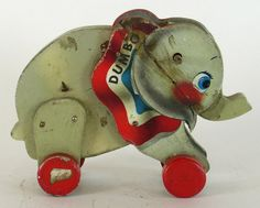 """Vintage """"Dumbo, the Elephant"""", pull toy (1940's)"""