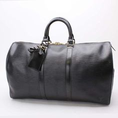 Louis Vuitton Keepall 45 Epi Luggage Black Leather M42972
