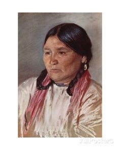 Naomi, Wife of Paul, a Blackfoot Indian Giclee Print by Harold Copping at AllPosters.com