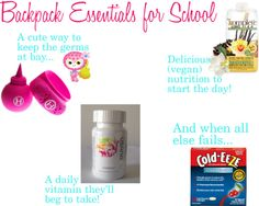 Backpack Essentials for a Healthy School Year!