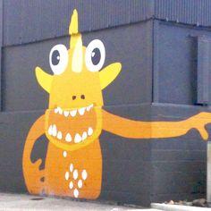 Colorful critter mural in Ocean Beach, San Diego, CA