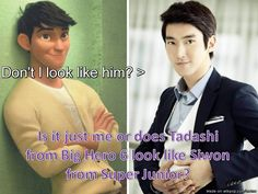Of course he looks like Siwon. Siwon looks like Daniel Henney and Tadashi was inspired in Henney ^^