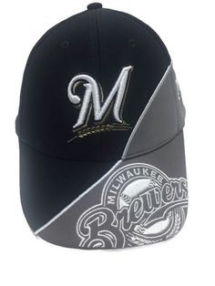Milwaukee Brewers MLB Two Tone Blue Gray '47 Snapback Baseball Hat Cap #47 #MilwaukeeBrewers