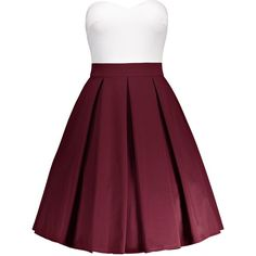 A Line Padded Bandeau Dress ❤ liked on Polyvore featuring dresses, a line silhouette dress, bandeau dress, a line shape dress, purple dress and a line dress