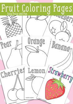 FREE Fruit Coloring Pages!