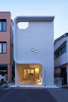 Modern house by KADeL Co & Fukoku Housing Co. in Neyagawa-shi - Architecture and Home Decor - Bedroom - Bathroom - Kitchen And Living Room Interior Design Decorating Ideas - Architecture Art Nouveau, Japanese Architecture, Modern Architecture House, Amazing Architecture, Interior Architecture, Architecture Details, Facade Design, Exterior Design, House Design