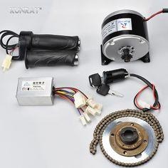 24 V 250 W Brosse Start moteur avec support pour E-scooter vélo 11 T 25 H Chaîne MY1016