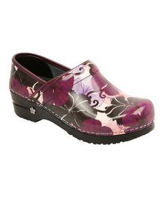 Cute!  Too bad it's too narrow for me.      Take a look at this Merlot Koi Clog - Women by Sanita on #zulily today!