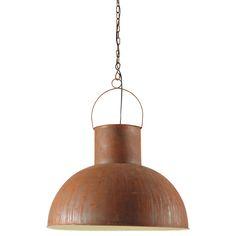 MANUFACTURE rusted look metal pendant lamp D 60cm