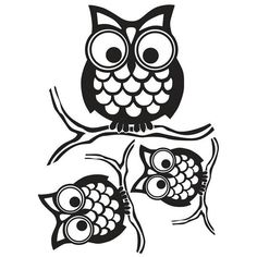 Give A Hoot Small Wall Art Kit - How fun are these owls? Small enough to be perched anywhere in your home, these wise owl stickers have a retro design, and will look smart in any room. Give a Hoot Kit