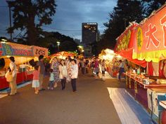 Chinese lantern plant festival (Hoozuki-Ichi) at Sensoji temple (July 9 and 10) Many kinds of food stall! Yummy!