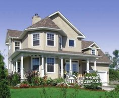 Victorian charm meets modern comfort... house plan no. 6406 (The honeycomb 6) by Drummond House Plans