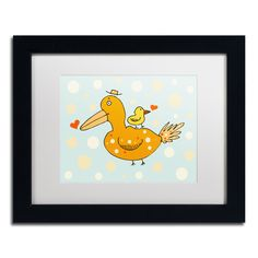 'Bird and Baby' by Carla Martell Framed Graphic Art