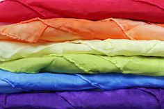 rainbow set of play silks #playsilk #waldorf #pretend #imagination #play #rainbow #roygbiv