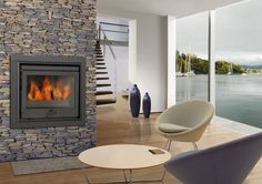 wood fireplaces inserts | Wood-burning fireplace insert 2510 DOVRE France