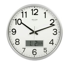 RHYTHM Value Added Wall Clock with Silent Movement LCD Ca...…