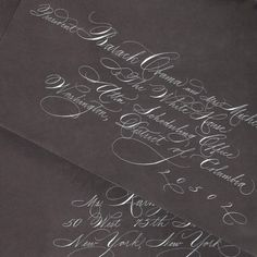 Invitation addressed in Spencerian script calligraphy | by eDanae, on Etsy