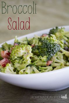 Easy Homemade Broccoli Salad | homemadeforelle.com