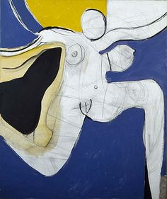 Roger Hilton – Dancing Woman, Oil and black chalk on canvas, cm Painting People, Figure Painting, Painting & Drawing, Abstract Expressionism, Abstract Art, Show Me The Way, Small Canvas, Art Uk, Life Drawing