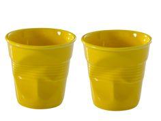Froisses Crinkled Porcelain Cups