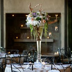 Floral and Candle Centerpieces // Jenny DeMarco Photography // STEMS Floral Design // http://www.theknot.com/weddings/album/a-cultural-wedding-in-austin-tx-139590