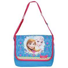 Coole schoudertas van Elsa en Anna uit Frozen. Formaat: ongeveer 26 x 33 x 10 cm.