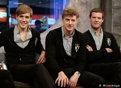 Howlin' Pelle, Nickolaus Arson, and Chris Dangerous from The Hives band