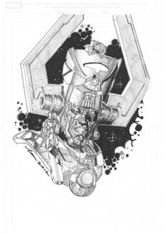Galactus and Silver Surfer by Tan Eng Huat *