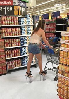 High Heel Shoes: Glass Stilettos at Walmart - Funny Pictures at Walmart