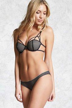 b5b1087cc12e5 FOREVER 21 Open-Mesh Bikini Panty Lounge Wear