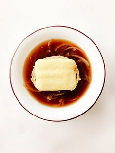 Slow Cooker Guinness French Onion Soup With Irish Cheddar Crouton