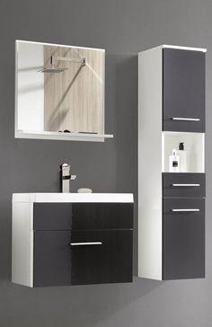 Tipo wit - hoogglans zwart badkamermeubel