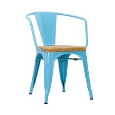 Bistro Arm Chair in Blue - Set of 2 | dotandbo.com