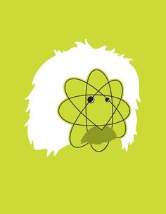 Albert Einstein, one of artist Noma Bar's brilliant minimalist portraits of cultural icons Noma Bar, Space Illustration, E Mc2, Vector Portrait, Minimalist Poster, Minimalist Icons, Cultura Pop, Portraits, Logo Nasa