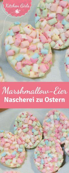 Mit nur 5 Zutaten zaubert ihr im Handumdrehen tolle bunte Ostereier mit Marshmallows