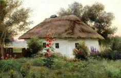 'The Ukrainian landscape with a hut' by A. Makovsky