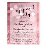 Rose Gold Glitter Bokeh Engagement Party Postcard #weddinginspiration #wedding #weddinginvitions #weddingideas #bride