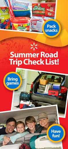 """Family vacations are fun, but long stretches in the car can lead to cranky kids. Get tips on healthy snacks to keep their tummies from growling in and fun games that will prevent them from asking, """"Are we there yet?"""" See the full list and find out how a little planning can help you keep your car filled with happy travelers all summer."""