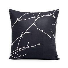 18 X 18 Charcoal Gray & Cream Branches Decorative by BHDecor, $25.95