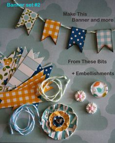 pretty paper banners and flowers Back To School Art, Paper Banners, Diy Banner, Paper Crafts, Diy Crafts, Buntings, Scrapbook Embellishments, 3d Projects, For Your Party
