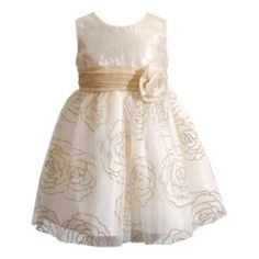 Youngland Sparkle Rosette Dress - Baby