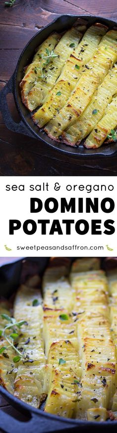 Sea Salt and Oregano Domino Potatoes, an impressive potato side dish ...