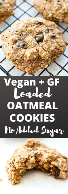 These soft batch Vegan and Gluten Free Oatmeal Cookies are loaded with chocolate chips, raisins, nuts, and other goodies. They are a healthy cookie that doesn't taste healthy at all! A must try! Great recipe!